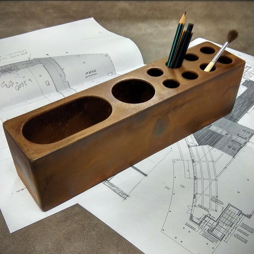 Органайзер для канцелярии из corten steel Stationery Loft