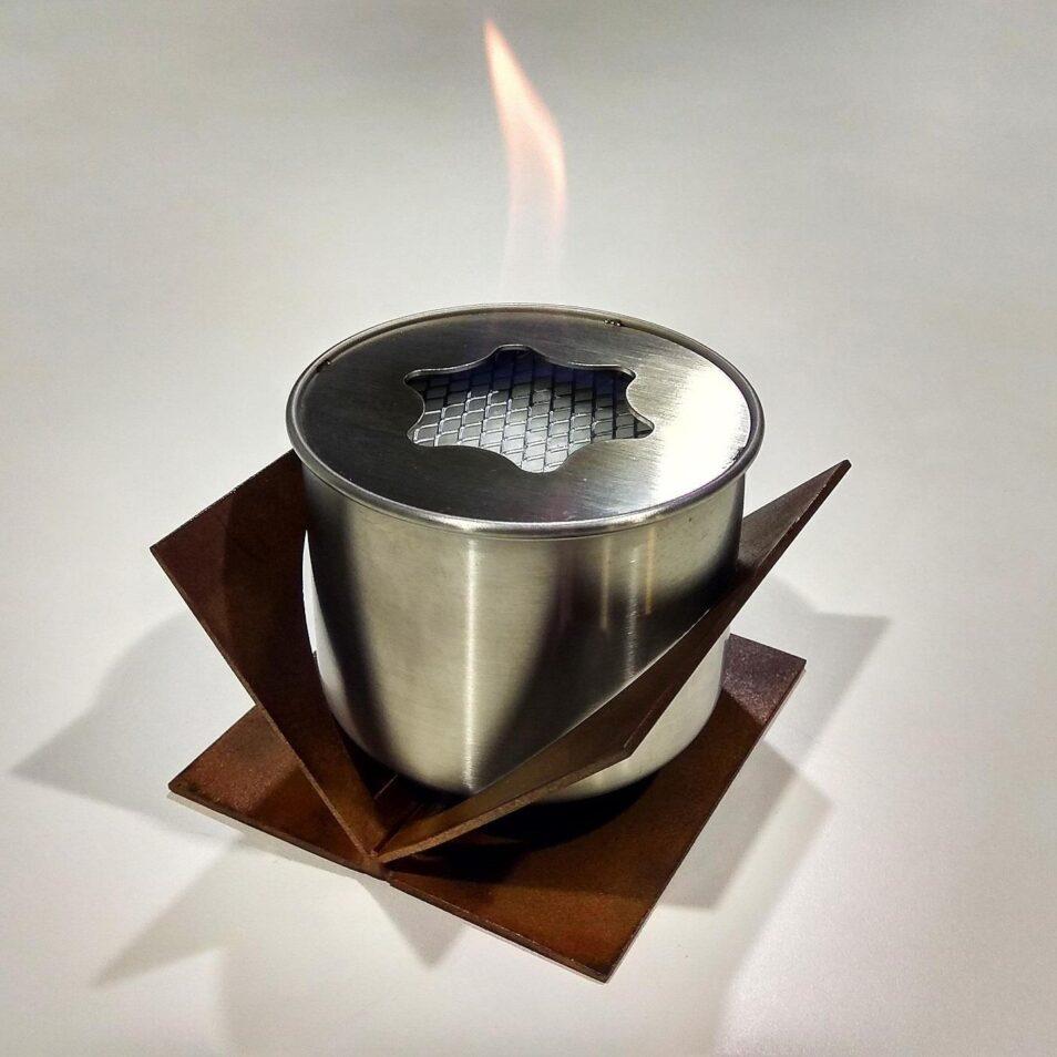 Настольный биокамин из corten steel bio fireplace