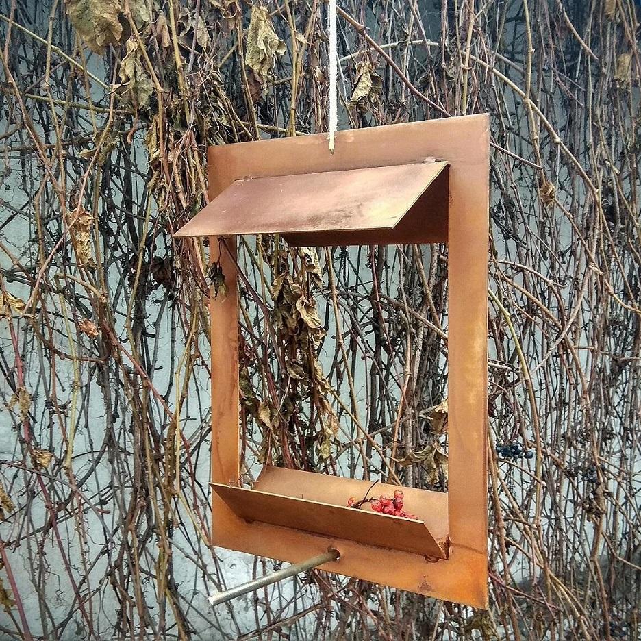 кормушка для птиц из corten стали