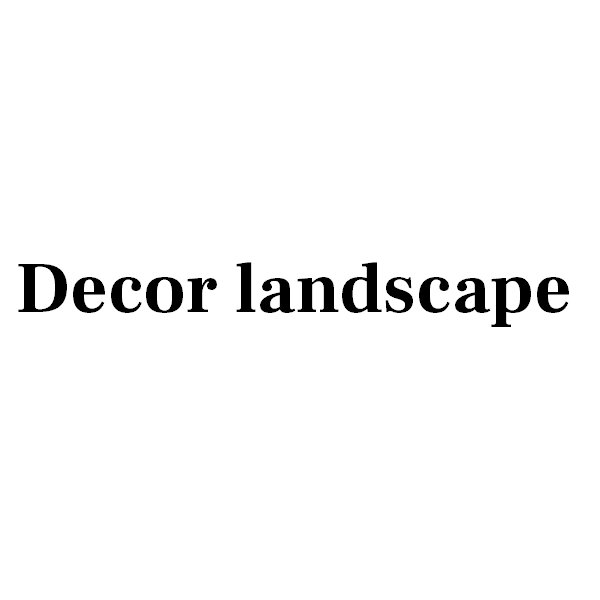 Декор в ландшафте