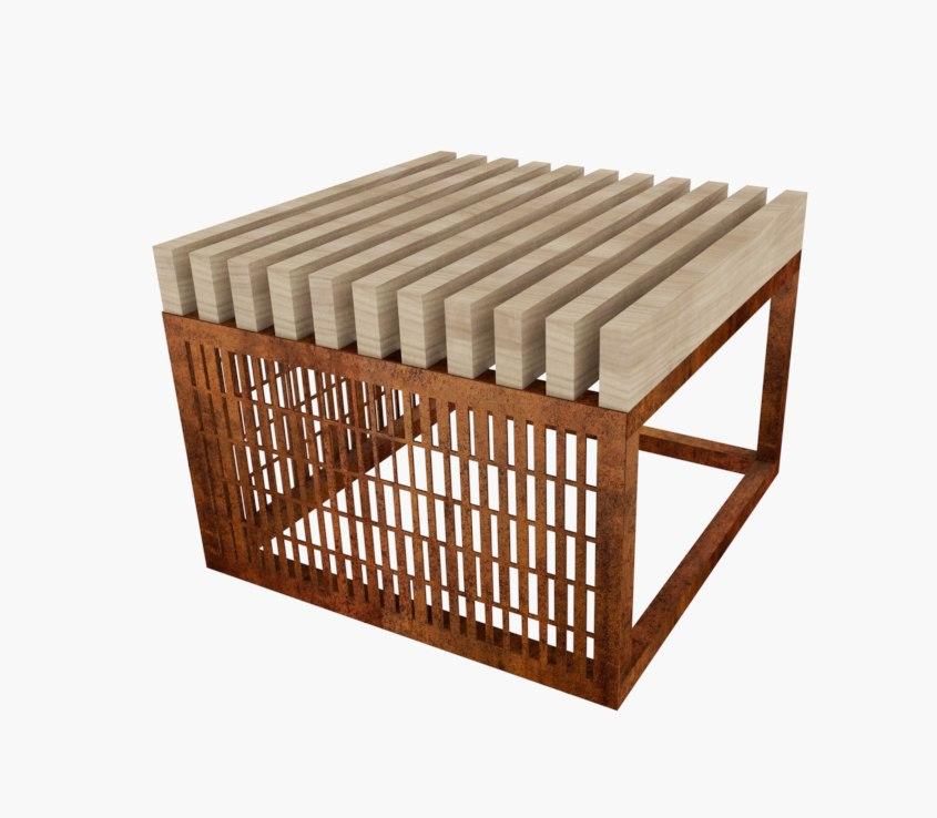 Модульная скамейка Pattern 1
