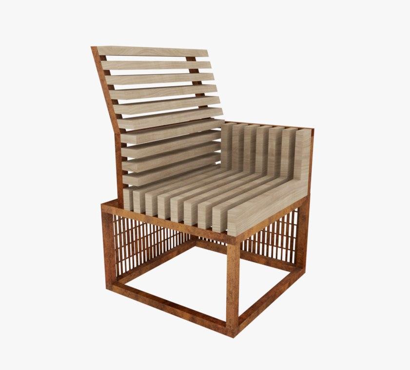 Модульная скамейка Pattern 3